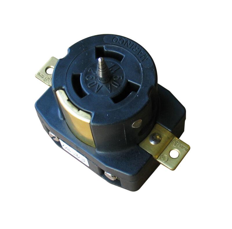 MARINCO CS6369 3 POLE LOCKING RECEPTACLE - 4 WIRE, 50 AMP 125/250 VOLT