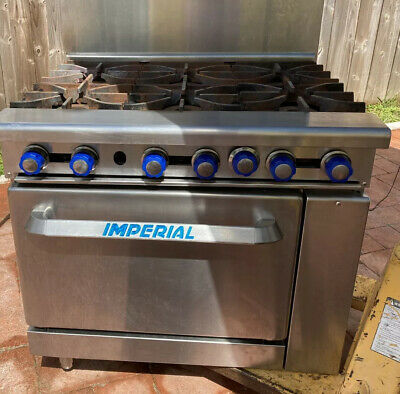 Imperial Ir-6 Six Burner Natural Gas Range Stove Oven