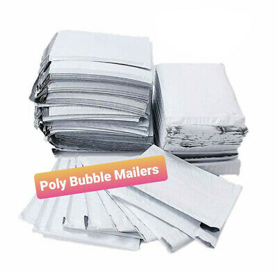 10 25 50 75 100 Poly Bubble Mailers Padded Envelopes 4x7 8.5x12 8.5x14.5