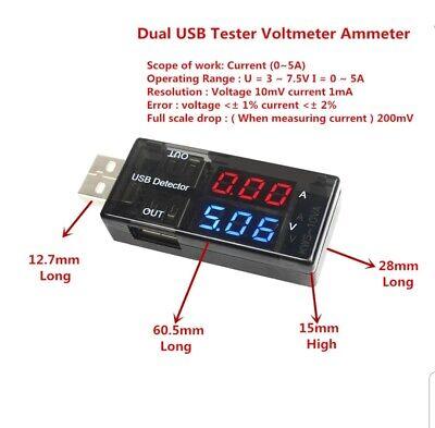 USB Current Voltage Detector Voltmeter Ammeter Tester Doctor Charger USB C2D2