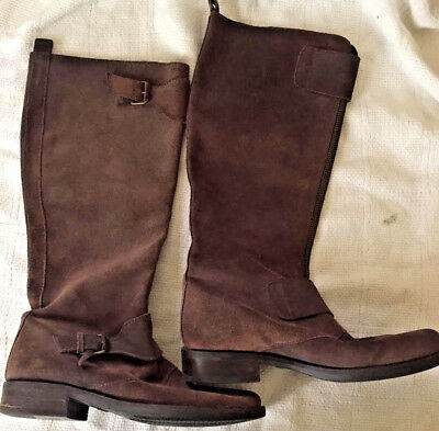 J. Crew Womens boots BROWN SUEDE size 8