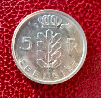 Belgique - Superbe monnaie de  5 Francs 1949 VL