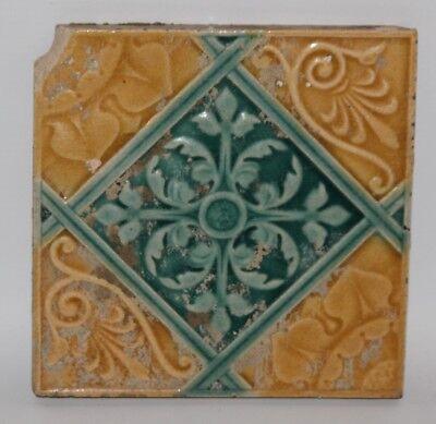 Antique Art Nouveau Relief Moulded Majolica 6