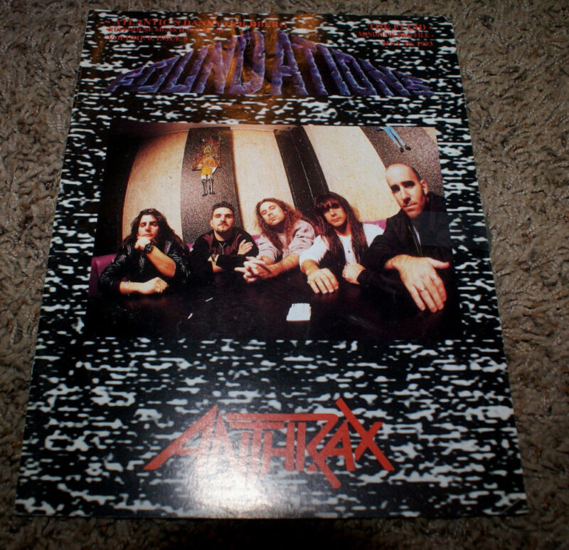 ANTHRAX AT FOUNDATIONS FORUM RARE MAY 10 1993 MAGAZINE HTF OOP BAGGED & BOARDED