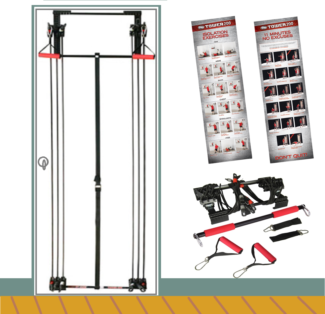 Tower 200 Body By Jake Full Gym Fitness + Workout DVD + Free