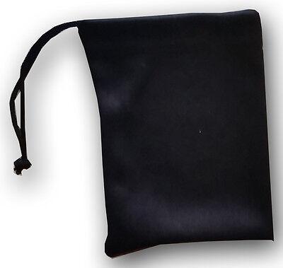 QTY 25 Jewelry Size Travel Pouch Small Gift Bag Black Soft Microfiber BULK LOT