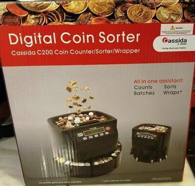 Cassida C200 Digital Coin Countersorterwrapper Canadian Version