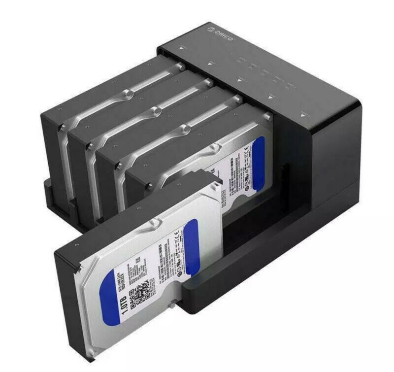 Orico Five Bay 6558US3-C SATA Hard Drive Duplicator   No Power Cord  