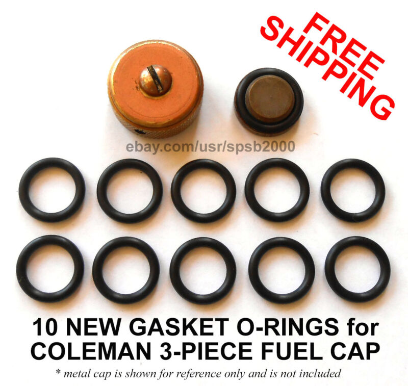 10 new gas cap gasket O-rings for COLEMAN fuel caps, stove & lantern filler cap