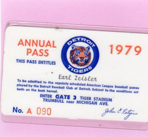 1979 Detroit Tigers Ticket Pass Kirk Gibson Debut/First Hit/Jack Morris 17 Wins