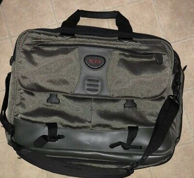 Tumi T Tech Brief Bag Expandable Organizer Nylon/Leather Computer Mint Condition
