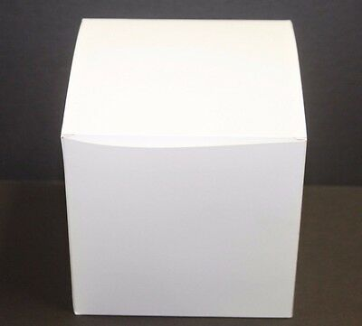 Lot Of 100 6x6x6 Gift Retail Shipping Packaging Boxes White Light Cardboard