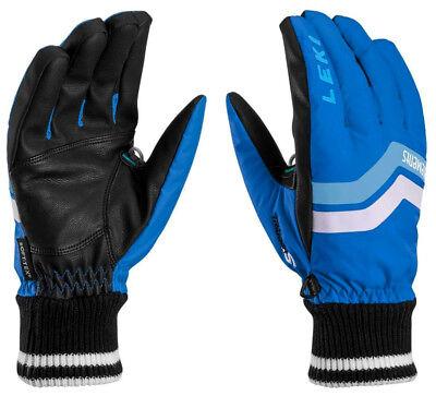 NEW $100 Leki Elements Osmium S Waterproof Ski Gloves Winter Mens Blue Black