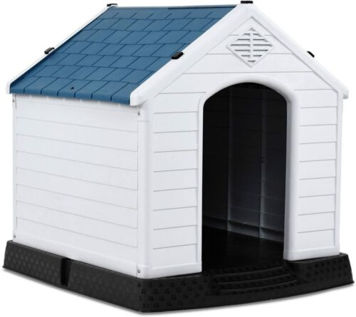 NEW Dog House All Weather Design Shelter Easily Assembled Kennel Backyards Pet