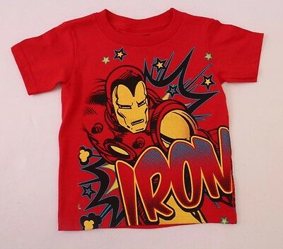 Marvel Iron Man Toddler Boys Red T-Shirt Sizes 2T, 3T NWT