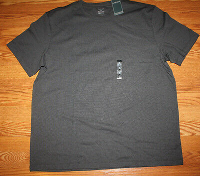 NWT Mens VAN HEUSEN Black Crew Neck Short Sleeve T Shirt Size L Large