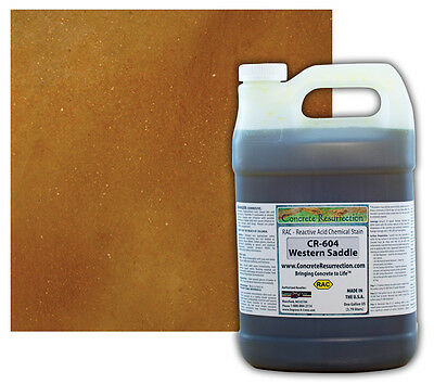Professional Easy To Apply Concrete Acid Stain-western Saddle - 1 Gallon