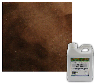Professional Easy To Apply Concrete Acid Stain-black Walnut Dark Brown 16oz