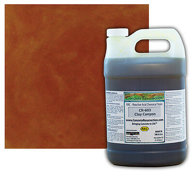 Professional Easy To Apply Concrete Acid Stain-clay Canyon - 1 Gallon