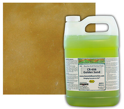 Professional Easy To Apply Concrete Acid Stain-golden Sand - 1 Gallon