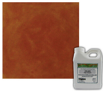 Professional Easy To Apply Concrete Acid Stain-clay Canyon 16oz
