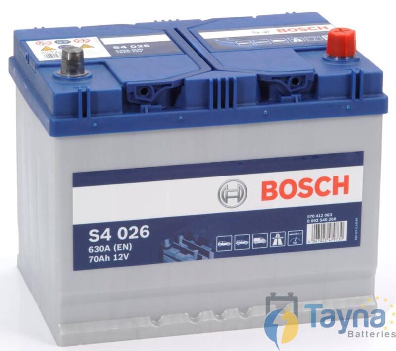 S4026 Bosch Heavy Duty 068 Car Van Battery - 12V 70Ah - 4 Yr Wty - Next Day Del
