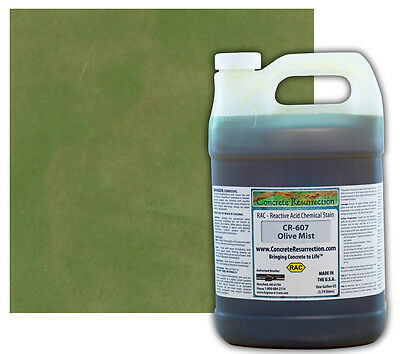 Professional Easy To Apply Concrete Acid Stain-olive Mist - 1 Gallon