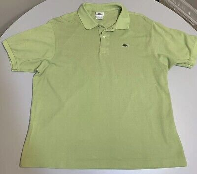 Lacoste Lime Green Polo Collar Shirt Crocodile Men's Size 7 / 2XL XXL