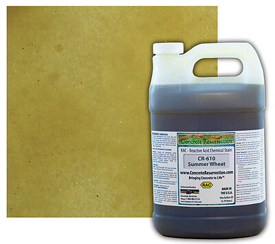Professional Easy To Apply Concrete Acid Stain-summer Wheat - 1 Gallon