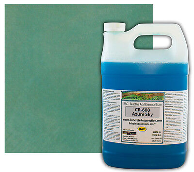 Professional Easy To Apply Concrete Acid Stain-azure Sky - 1 Gallon