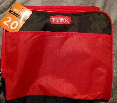 Thermos 30 Can (24 + 6) IsoTec Layered Insulation 2.0 Soft Red Cooler Bag, -