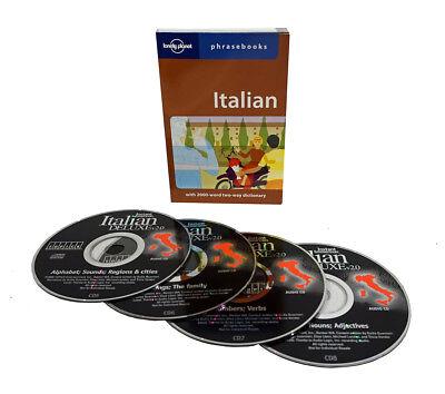 Learn to Speak Italian Language (4 Audio CD Set w/Phrasebook) listen in your car