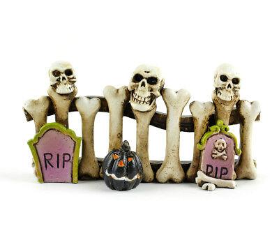Halloween Fairy Garten Miniatur - Halloween Knochen Zaun - Puppenhaus