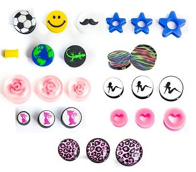 200 mixed ear plugs tunnels tapers bargain body jewellery huge profit potential