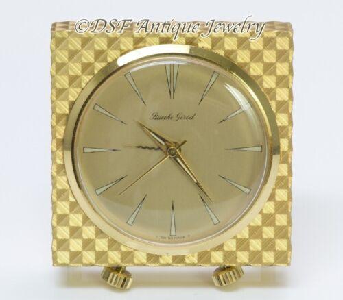 Vintage Bueche Girod Alarm Travel Clock