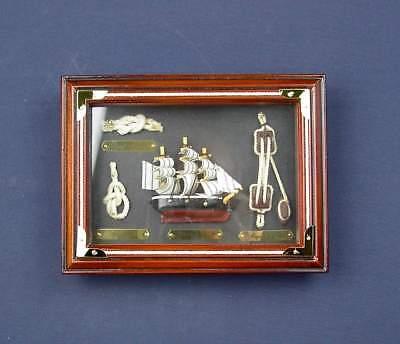 """Knotentafel """"Cutty Sark 1869"""" mit Rahmen ca. 20 x 15 cm, hinter Glas"""