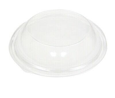 Pactiv Clear Dome (Pactiv Round Bowl Lid For 92220K Large 5 lb Black, 25 Count Clear Plastic Dome )