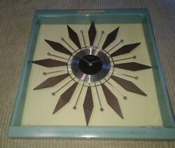 NEW WOOD/METAL MID CENTURY MODERN GEORGE NELSON VERICHRON WALL CLOCK-19 ACROSS