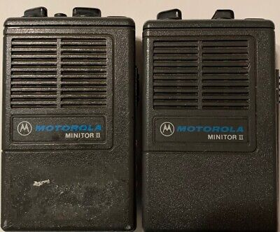 Lot Of 2 Motorola Minitor Ii Fire Low Band Pager Radio Pager
