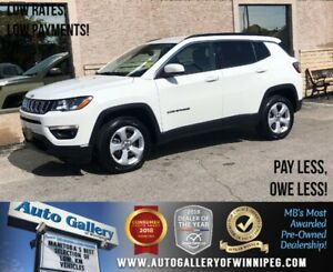 2018 Jeep Compass North *4x4/B.tooth/Back.Cam/Htd Lthr/9Spd Auto