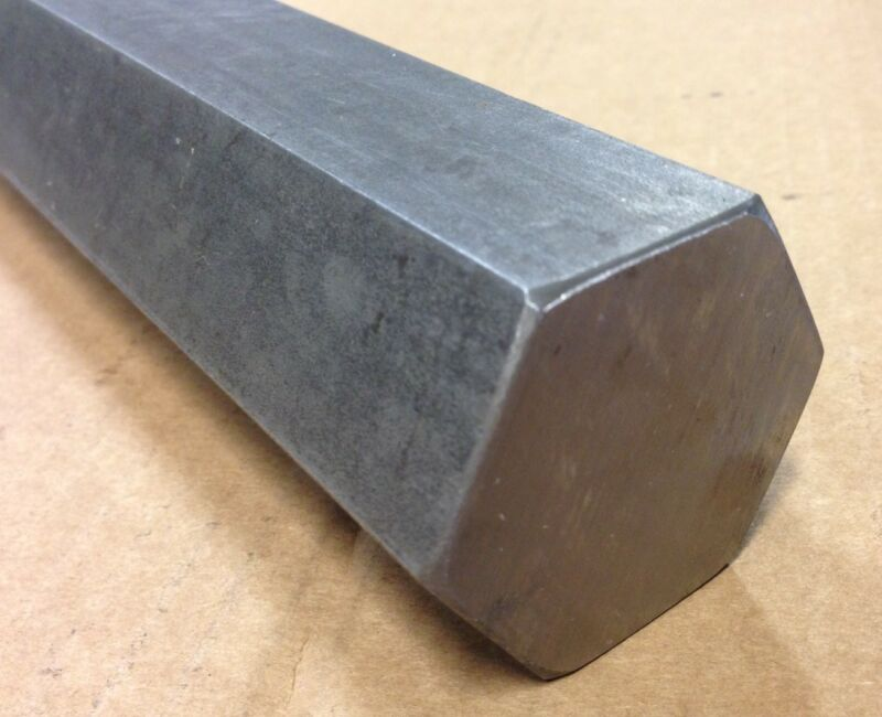 "2"" Thick x 10"" Long NEW 1215 Steel Hex Bar Iron Metal Stock"