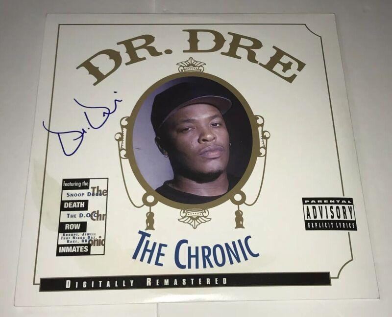 DR. DRE Signed THE CHRONIC Record Album LP RARE RAPPER Autograph JSA LOA COA