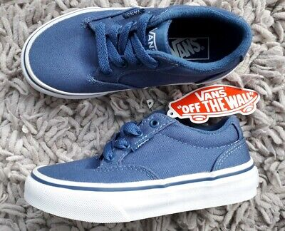 VANS WINSTON BOYS CANVAS SKATE SHOES SIZE UK 12 JUNIOR NEW BLUE PUMPS SNEAKERS