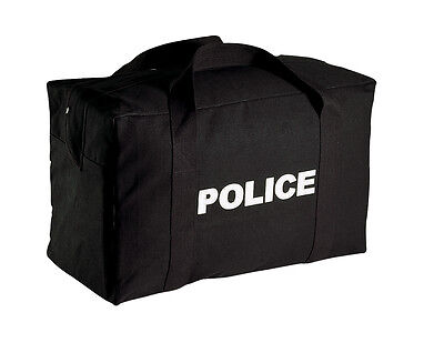 New Large Size Heavyweight Black Canvas Police Duty Tactical Equipment Gear Bag