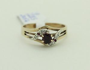 9ct White and Yellow Gold Ruby and Diamond Ring Mandurah Mandurah Area Preview