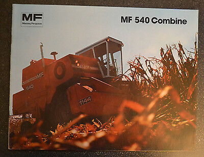 Vintage Massey Ferguson MF 540 Combine Brochure  -  1981