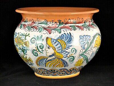 PREGIATO PORTAVASO Sicilia cm32 ceramica di Caltagirone