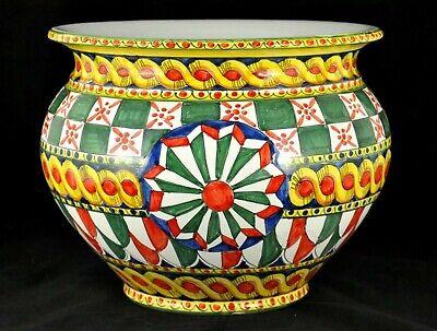 ARTISTICO PORTAVASO SICILIA cm32 ceramica di Caltagirone
