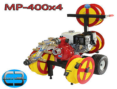 Mp-400x4. 4 Reel Fire Pump Cart Home California Wildfire Protection Code 3 Water