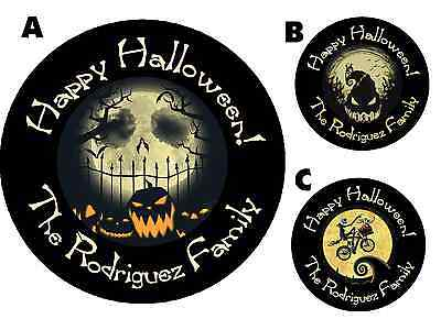 HALLOWEEN PARTY NIGHTMARE BEFORE CHRISTMAS ROUND STICKERS FAVORS ~ VARIOUS SIZES](Before Halloween Party)
